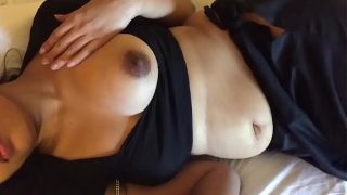 Big boobs telugu aunty in black saree homemade xxx sex video