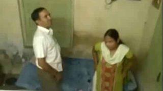 Boss fucks employee's sexy wife in hidden cam porn video