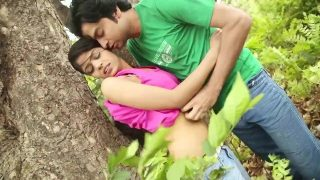 Indian hot college couple romance and kissing in public adult video