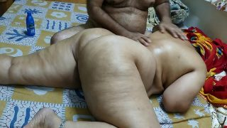 XNXXX Amateur Indian Milf XXX Oil Massage Sex By Stepson