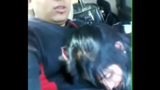 Desi girl Give Blowjob and suck his brother dick in the Car