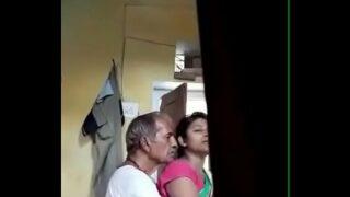 Desi young bhabhi with old man hiddencam xxxnxcx pom